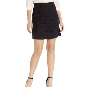 Nicole Miller A-Line Lace Skirt